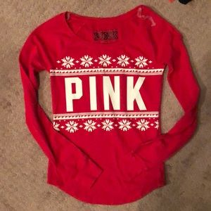 NWOT! VS PINK Waffle Knit Thermal Tee